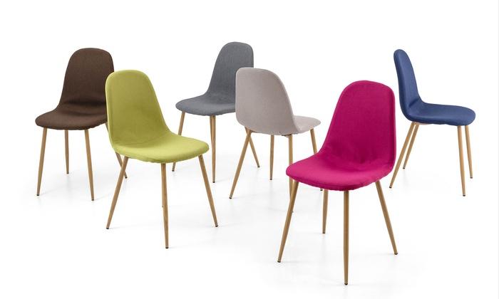 Set 4 sedie in tessuto | Groupon Goods