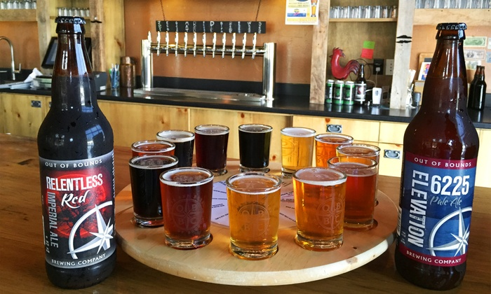 Out of Bounds Brewing Company - Rocklin: Brewery Tour, Flights, and Take-Home Beers for 2 or 4, or Party at Out of Bounds Brewing Company (Up to 54% Off)