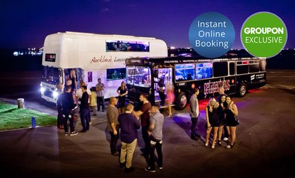 Party Bus Hire Pkg for 30 or 40 Ppl (From $990) with Bar Tab and Pizza with Party Bus Central (From $1,430 Value)