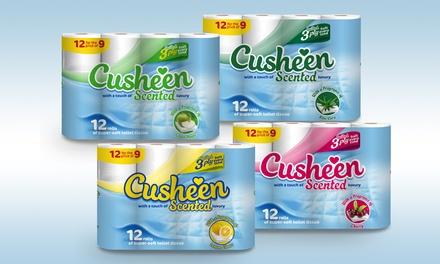 60 ou 120 rouleaux de papier toilette Cusheen