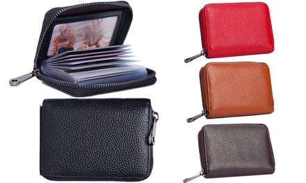 Leather RFID 20-Card Organiser