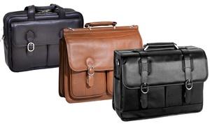 McKlein Calfskin Leather Briefcases