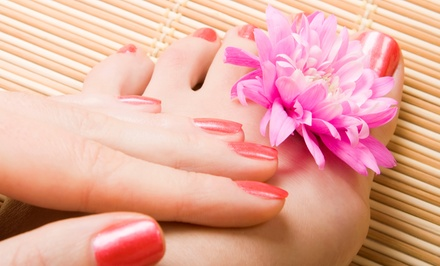 Regular, Spa, or Shellac Mani-Pedi at Attitudes Hair and Tanning (Up to 58% Off)