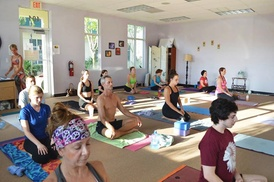Hot Salutations: 5 or 10 Hot-Yoga Classes or One Month of Unlimited Hot-Yoga Classes at Hot Salutations (Up to 67% Off)