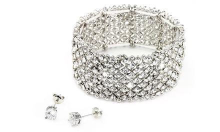 Nine-Row Bracelet and Earrings
