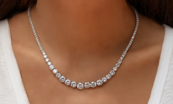 e164351ed7cde Up To 80% Off on Elements of Love Tennis Necklace | Groupon Goods