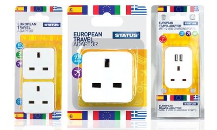 Status European Travel Adaptor Groupon Goods