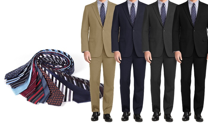 Braveman Classic Fit Suits with Free Tie