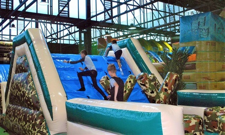 2-Hr Inflatable Zone Pass: 1 ($10), 2 ($18), 4 ($35), 6 ($49) or 8 Ppl ($59) at Mega Courts Indoor Sports (Up to $112)