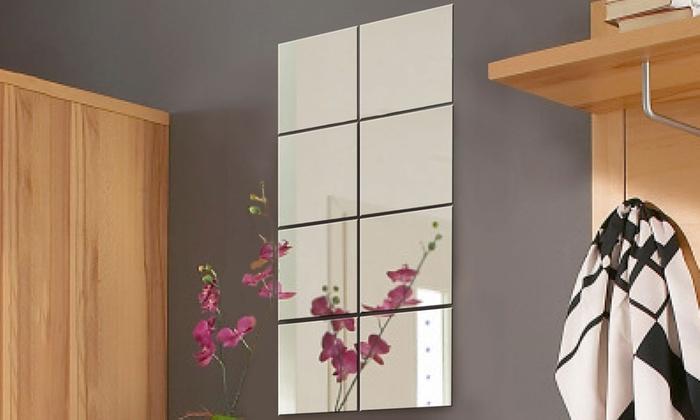 Specchio da parete 8 pezzi | Groupon