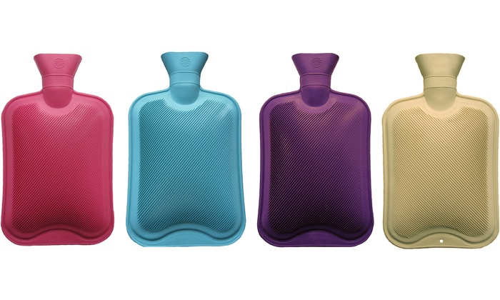 2-Litre Ribbed Hot Water Bottle   Groupon Goods