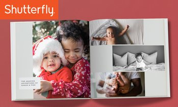 Up to 84% Off One 8x8 Shutterfly Hardcover 20-Page Photo Book