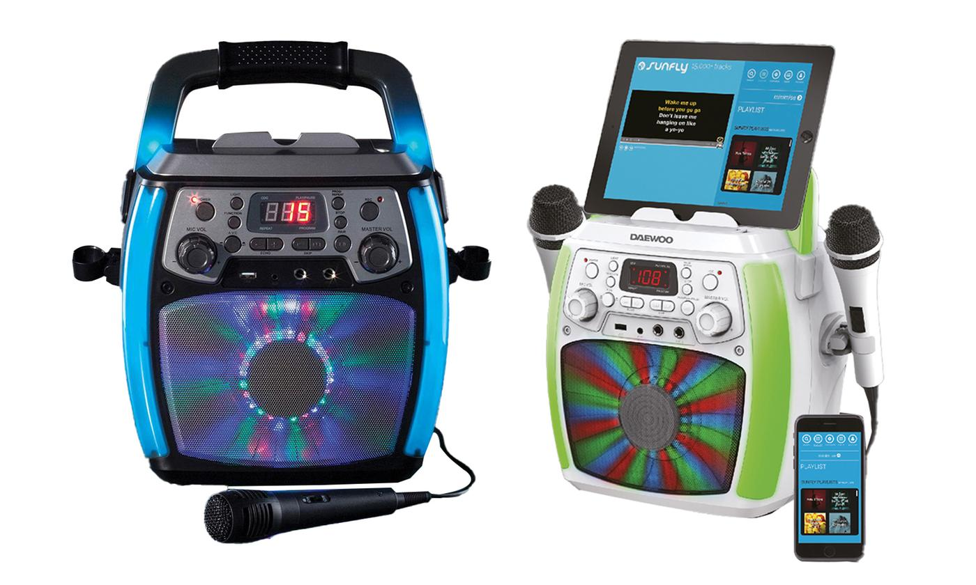 Daewoo Bluetooth Karaoke Machine with Two Wired Microphones With Free Delivery