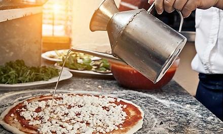 Menu pizza alla carta con birra