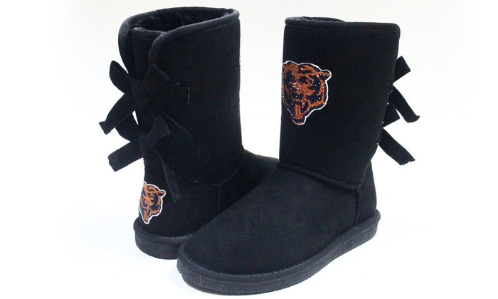 1279e9609 Up To 30% Off on Cuce Shoes NFL Women s Bow Boots