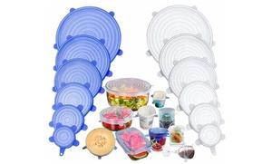 Set de 6 ou 12 couvre-plats en silicone