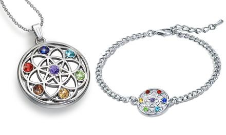 Bracelet et/ou collier Chakra avec cristaux Swarovski®