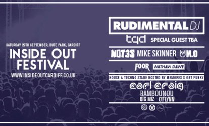 Inside Out Festival Featuring Rudimental, 29 September at Bute Park (Up to 9% Off)