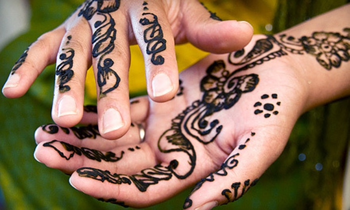 Mystical Masks - Calgary: 55 for a One-Hour Glitter-Tattoo or Henna Party for up to 10 People from Mystical Masks ($112 Value)