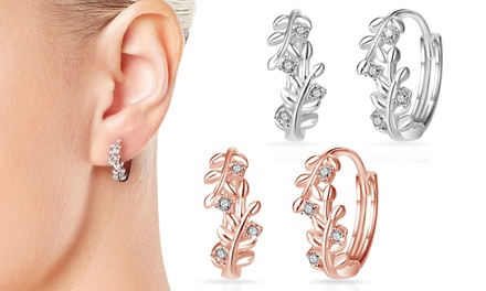 Philip Jones Leaf Earrings