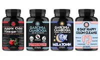 Angry Supplements Apple Cider Vinegar, Garcinia Cambogia, Garcinia Cambogia PM, and 10 Day Cleanse (4-Pack)