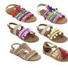 OMGirl Girl's Boho Pom Pom Sandals