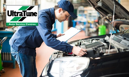 Car Service ($89) + Brake or Coolant Flush ($129) or Air Con Re-Gas ($199) at Ultratune Belmont (Up to $429 Value)