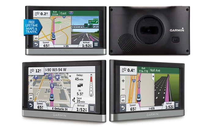 garmin 5 gps with lifetime maps groupon goods. Black Bedroom Furniture Sets. Home Design Ideas