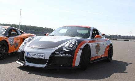 30, 60 oder 90 Min. Porsche GT3-991 selber fahren sowie 10 Min. Einweisung mit European Race Events (bis zu 58% sparen*)
