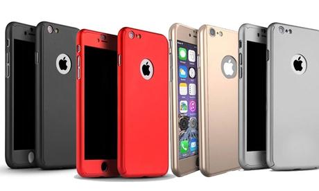Cover integrale e vetro temperato disponibile per iPhone 5/5S/SE, 6/6S, 7, 8, X, 6 Plus/6S Plus disponibile in 5 colori