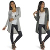 Free to Live Women's High-Low Hacci Cardigan
