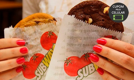 Cookie ou brownie no Subway – República