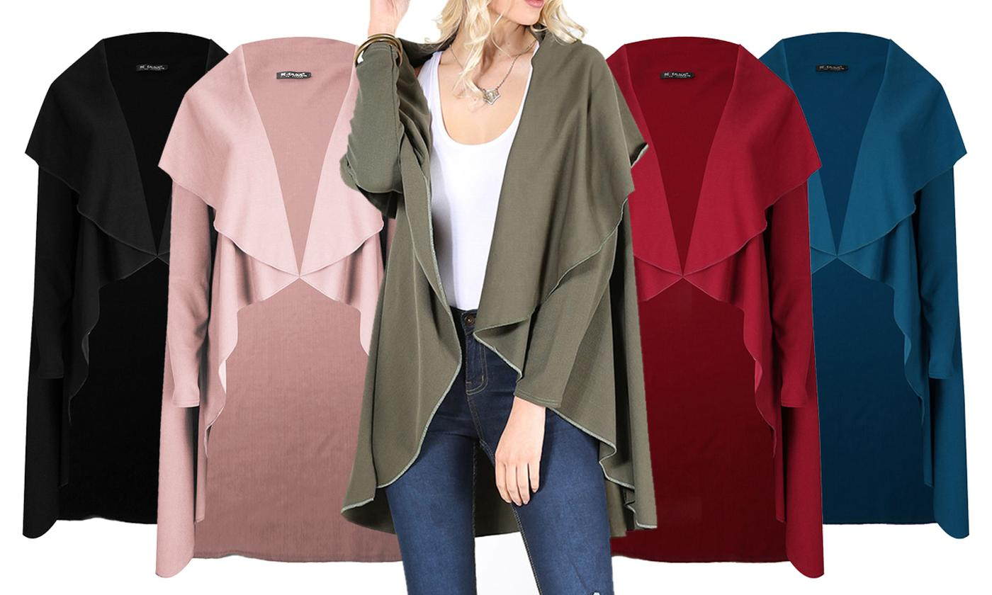 Oops Open Front Cape Cardigan