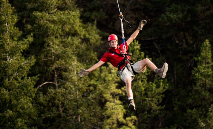 Adventures Out West - Manitou Springs: $53 for a Zipline Adventure from Adventures Out West ($85 Value)