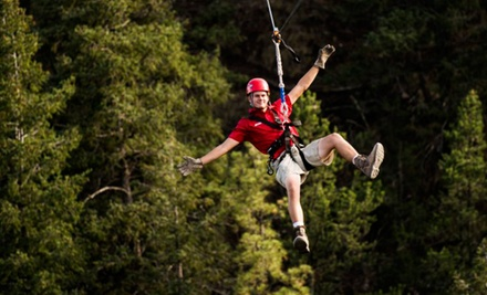 $50 for a Zipline Adventure from Adventures Out West ($85 Value)