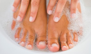 Nails and Spray Tans by Angela: Up to 56% Off A Spa Manicure and Pedicure at Nails and Spray Tans by Angela