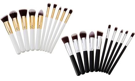 1x oder 2x 10er-Set Make-up-Pinsel-Set in Schwarz oder Weiß (11,90 €)