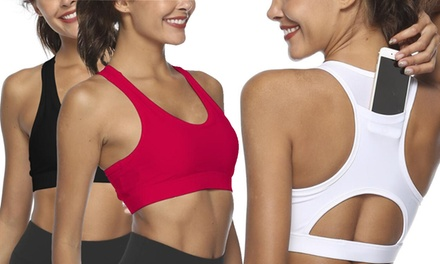 Women's Sports Bra with Phone Holder Pocket: One ($17) or Two ($27) (Don't Pay up to $139.98)