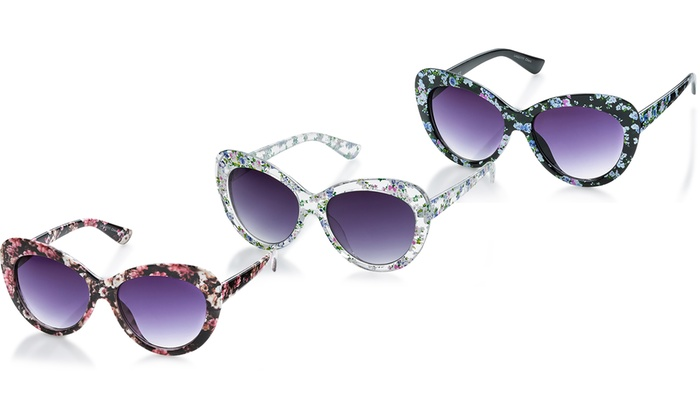 Laura Ashley Floral Printed Women's Sunglasses