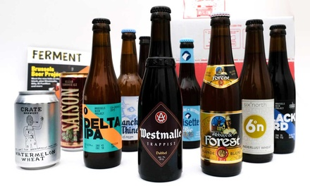 Eight or Ten Belgian Craft Beers Gift Sets with Magazine, Snack and Gift Card ...