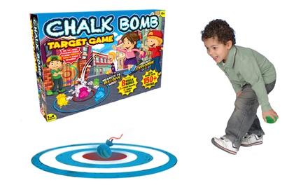 Chalk bomb target