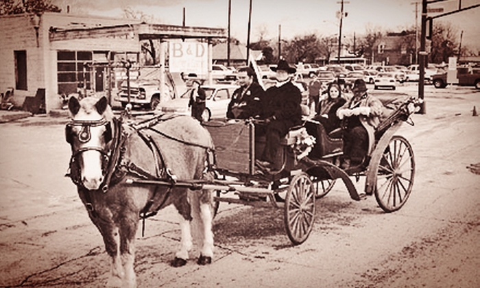 Brazos Carriage Company - Fort Worth: 30- or 60-Minute Carriage Ride for Up to Six from Brazos Carriage Company (Up to 61% Off)