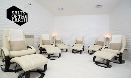 Unlimited Salt Therapy: Adult 1 ($35) or 2Wks ($65) or Adult & Child 1 ($39) or 2Wks ($69) at Salts Of The Earth