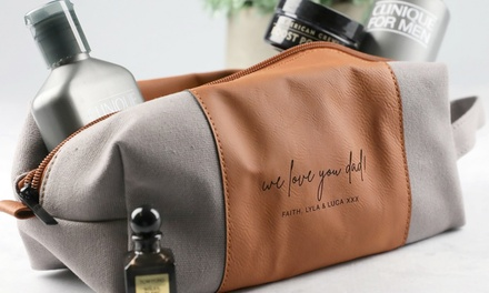 $34.95 for Personalised Father's Day Toiletries Case from Keep it Custom (Up to $49.95 Value)