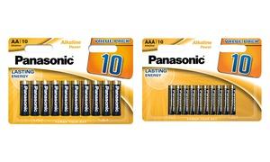 Piles Panasonic Bronze AA et AAA