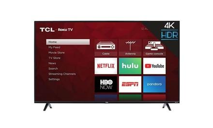 """TCL 50S425 50"""" 4K Smart LED Roku TV 2019 (Refurbished)"""