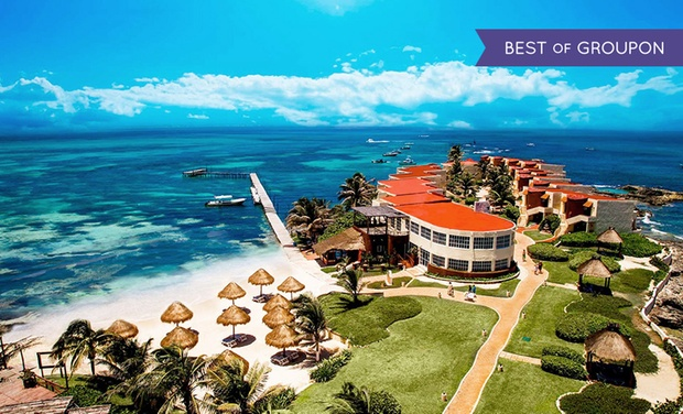 TripAlertz wants you to check out ✈ 4-Night All-Inclusive Mia Reef Isla Mujeres Stay with Airfare. Price per Person Based on Double Occupancy. ✈ All-Inclusive Mia Reef Isla Mujeres w/ Air from Travel by Jen - All-Inclusive Cancún Vacation