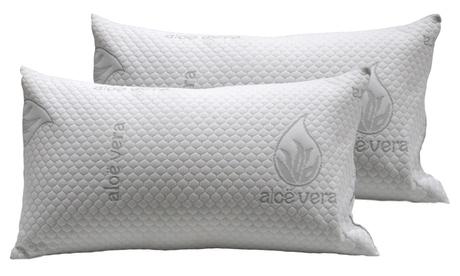 1 o 2 almohadas visco de aloe vera