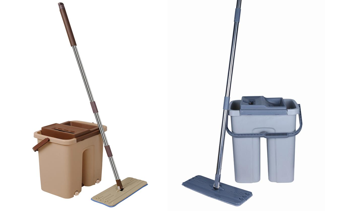 Cenocco Flat Mop and Bucket Broom