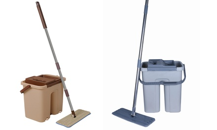 Cenocco Flat Mop and Bucket Broom